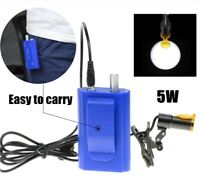 Dental Medical Clip-on 5W LED Head Light Blue + Filter & Belt Clip for Glasses
