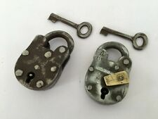 Lock 2 Pic Old Vintage Rare Iron Lock and Key Collectible Master Aligarh