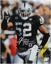 Kirk Morrison Hand Signed Autographed 11x14 Photo Oakland Raiders With COA #1