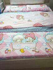 MY MELODY Bathing Design QUEEN SIZE DOUBLE BED SHEET SET 4PCS Cotton Bedding set