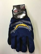San Diego Chargers Blue Raised Team Logo Licensed NFL Sport Utility Gloves-New