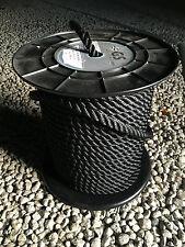 Cordage Noir pour amarre haute ténacité 10m Ø 6 mm 565 kg