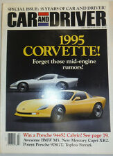 Car And Driver Magazine Corvette & Porsche 944S2 Cabrio July 1990 NO ML 012115R