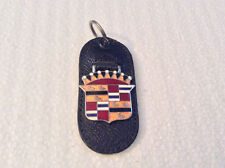 Vintage Leather Torpedo Key Ring Key Fob, Cadillac, Craftsman New Old Stock