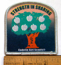 Girl Scout CADETTE - STRENGTH IN SHARING PATCH Philanthropy Apple Tree Badge NEW