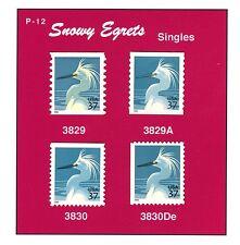 3829-3829A  3830-3830De Snowy Egrets 2003-2004  MNH A PREMIUM QUALITY SET  Pg-12