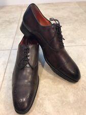 Santoni 'Stanford' Cap Toe Oxford Size 8 1/2 D Brown Men's Shoes Retail $795