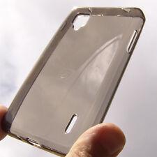 Custodia silicone NERA trasparente PROTEZIONE per LG E400 OPTIMUS L3