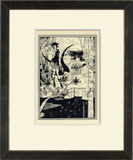 "Original 1899 Line Block Print ""Siegfried"" by Aubrey Beardsley"