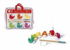 Janod Ducky Angeln Spiel Brandneu in Box tolles Geschenk 2 Jahre + Hook Eine Ente