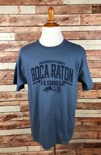 Palm Beach Florida Boca Raton Size LARGE Blue Short Sleeve Unisex T-Shirt Tee