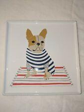 """Claudia Pearson French Bulldog Plate 9"""" Square New"""