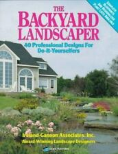Backyard Landscaper Book/40 Professional Designs for Do-It-Yourselfers-Free Ship