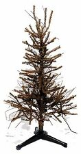 Pre-Lit 3 ft German Twig Pine Tree Christmas Country Metal Base NEW XT7F0001