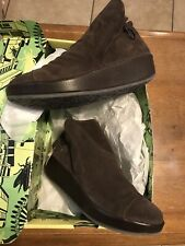 New Fly London Women's Brown Suede Wedge Booties 37 US 6.5