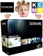 Lexmark Genuine/Original Laser Printer Toner Cartridge X651A11P X651/X652/X654