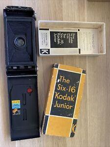 Vtg Mint Kodak Junior Six-16 Series III folding camera w Anastigmat Lens w box