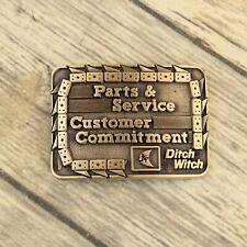 Ditch Witch Belt Buckle Parts Service Brass Award Design Medals Construction VTG