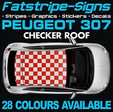 PEUGEOT 307 CHECKER ROOF GRAPHICS STRIPES DECALS STICKERS GTI PUG ESTATE CC 1.4