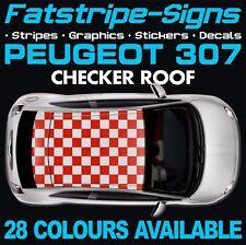 Peugeot 307 Checker toit Graphique rayures autocollants stickers GTI Pug Estate CC 1.4