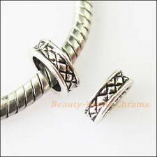 30 New Circle Tibetan Silver Spacer Beads fit European Charm Bracelets 8mm
