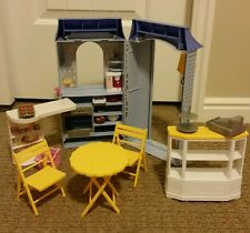 BARBIE BAKE SHOP AND CAFE PLAYSET CAKE COOKIES PIE MUFFINS BAKERY BAKING