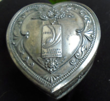 Art DECO 1933 - 1934 CHICAGO Worlds FAIR Jewelry Box Figural HEART Shape