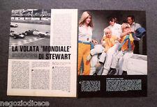 AW81 - Clipping-Ritaglio -1969- NOTIZIE FORMULA 1 , JACKIE STEWART , GP D'ITALIA