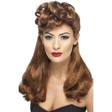 Women's Auburn Vintage Wig Long Top Curls 40's 50's Classy Hen Pin Up Girl Model