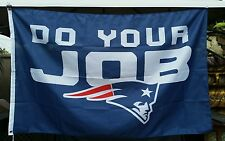 New England Patriots flag, DO YOUR JOB! Super Bowl banner, Blue Bill Belichick