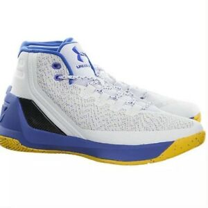 NWOB Under Armour SC 3 Dub Nation Home Stephen Curry White/Blue Shoes Men 11.5