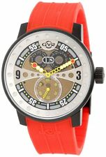GV2 by Gevril Men's 4041R4 Powerball Red Rubber Sub-Second Big Date Watch