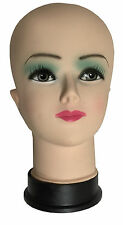 Female Mannequin Head Display Stand Shop Wigs, Glasses, Scarves, Hats Plastic