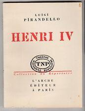 Henri IV Luigi Pirandello