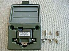 Bird Thruline Wattmeter 4110 Transmitter Test Set & Case-Vtg US Army Surplus