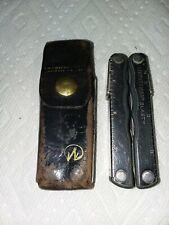 Vintage Leatherman Tool with Original Belt Holster .