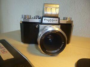 Praktica FX 2. Spiegelreflex Kamera, Carl Zeiss Jena Tessar, 50-iger Jahre, top