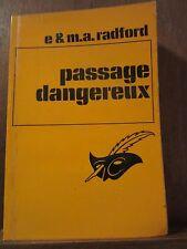 E. & M.A. Radford: Passage dangereux/ Le Masque N°1170 Champs-Elysées