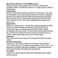 X24 Rust-Oleum ultra-resistente POLIURETANO TRASPARENTE VERNICE SPRAY LUCIDO