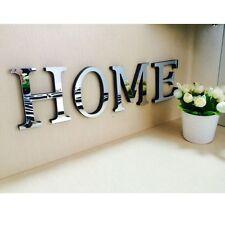 26 Letters Home DIY Furniture Mirror Wall Sticker Decorative Art Home Decor
