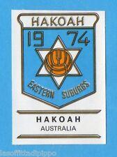 FOOTBALL CLUBS-PANINI 1975-Figurina n.20- HAKOAH - AUSTRALIA -SCUDETTO-Rec