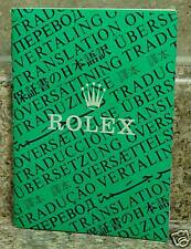 Vintage Rolex Translation Booklet 1994   RARE Item! 565.00.250.10.94