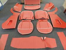 Vinyl Triumph TR3 interior kit fits models with slant rear floor Sierra Red**
