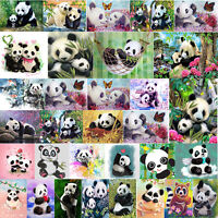 5D DIY Diamond Painting Flower Panda Cross Stitch Embroidery Mosaic Home Decor