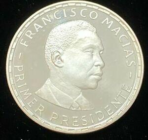 1970 COA Francisco Comacias Republica De Guinea 200 Pesetas .999 Silver