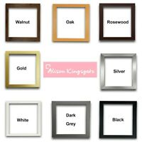Square Picture Frames Modern Black White Oak Photo Frame Walnut Gold Silver Grey