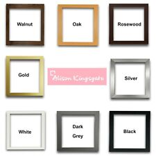 Square sizes Picture Frames Black White Oak Photo Poster Frame Gold Silver Grey