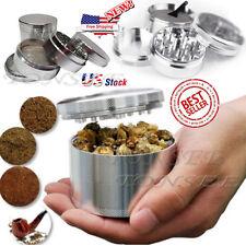 US Men Silver Nice 4-piece Metal Hand Muller Herb Spice Tobacco Grinder Crusher