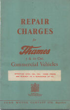 Ford Thames 5 & 10 cwt Original Repair Charges 1952