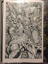 VENOM VS PREDATOR Illustration Original Art Chris McJunkin